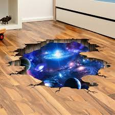 amazon com livegallery removable pvc 3d outer space planet moon amaonm creative 3d blue cosmic galaxy wall decals removable pvc magic 3d milky way outer space