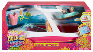 barbie dolphin magic ocean view boat playset toys