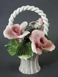 capodimonte basket of roses capodimonte roses basket large porcelain flowers italy