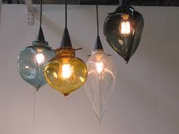 Blown Glass Mini Pendant Lights by Hand Blown Glass Pendant Lighting With Inspirational Lights