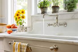 double bowl farmhouse sink with backsplash kitchen sink with backsplash new farmhouse country this old house