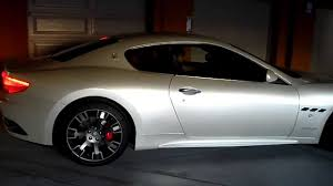 white maserati pearl white maserati granturismo s rare bianco fuji start up stock