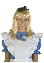 blonde alice wig