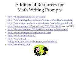 writing in mathematics adapted from carlos rodriguez curriculum