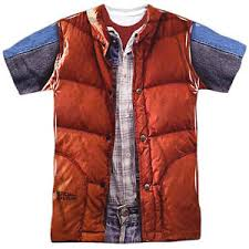 Back To The Future Costume Back To The Future Movie Marty Mcfly Costume Big Print 1 Sided