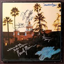 california photo album eagles hotel california album cover signed