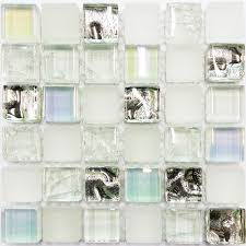 glass tile sample ice white iridescent aqua glass tile kitchen