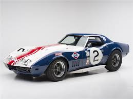 corvette auctions 1968 chevrolet corvette convertible l88 race car barrett jackson