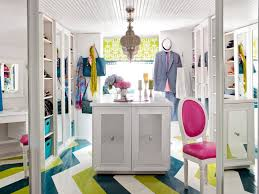 colorful closet in the attic hgtv