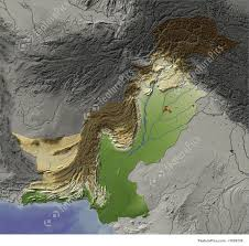 Relief Map Signs And Info Relief Map Of Pakistan Stock Illustration