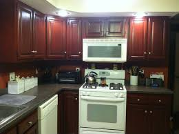 cool cabinets for kitchen red color design painting and green wall
