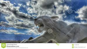 mountain lion statue marble mountain lion statue editorial stock photo image of