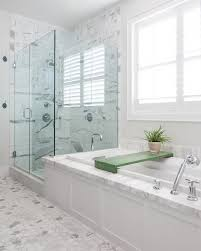chic frameless glass shower doors in bathroom contemporary with