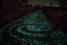Water Faucet Night Light Solar Powered Glow In The Dark Bicycle Path Opens In The