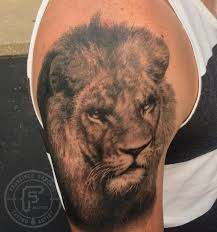 frank sanchez tattoos body part arm realistic lion tattoo