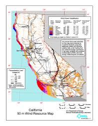 West Coast Usa Map by Wind Power In California Wikipedia