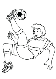 Great Soccer Coloring Sheets Football Player Color Pages Girl Page Soccer Coloring Page