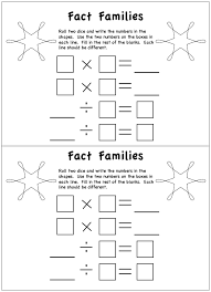 math fact families multiplication division worksheets fact families multiplication and worksheets