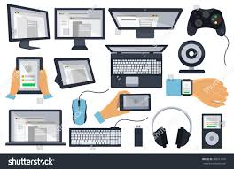 Design Gadgets Set Flat Design Icon Gadgets Electronic Stock Vector 485211316