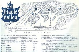 New England Area Map by 1964 65 Maple Valley Ski Area Trail Map New England Ski Map