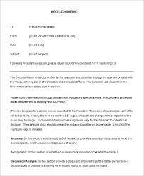 acquisition decision memorandum best template u0026 design images