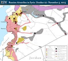 Homs Syria Map by Russian Airstrikes In Syria October 27 November 5th 2015