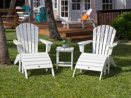 Recycled Plastic Adirondack Chairs Polywood Seashell Recycled Plastic Adirondack Chair Sh22