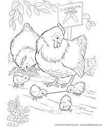 farm animals coloring page farm animal coloring pages printable chickens coloring page and