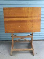 vintage wood drafting table antique drafting table ebay