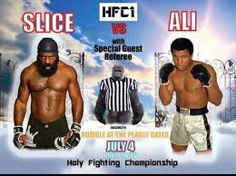 Kimbo Slice Meme - rumble at the pearly gates holy fighting chionship kimbo