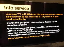 tf1 si e tf1 coupe le service mytf1 aux abonnés d orange maj réponse d