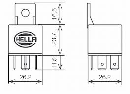 hella hl87111 mini relay 24v 30a spst with bracket rally lights