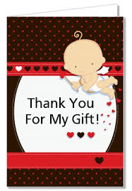 baby shower thank you cards baby shower thank you cards cupid baby s day thank you notes