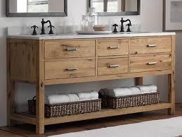 reclaimed wood floating bathroom vanity dark brown finish