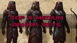 elder scrolls online light armor sets top 5 medium armor sets elder scrolls online youtube