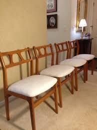 mid century dining room furniture mid century modern dining room chairs reupholstered midcentury