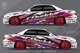 subaru side decal car side decal custom full body color sticker turbo greddy