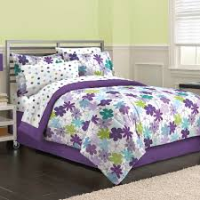 purple and green bedding eht graphic daisy floral girls full queen