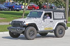 jeep truck 2018 spy photos new spy shots of the jl wrangler rubicon photo u0026 image gallery