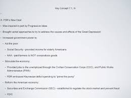 key concept 7 1 i a large corporations dominated the economy