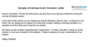 christmas party donation letter template business template