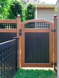 black and wood cool fence ideas cool fence idea black and wood grain vinyl accent