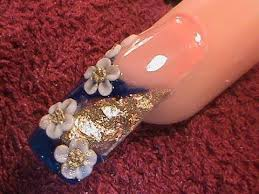 acrylic nails 3d mini flowers youtube nail art
