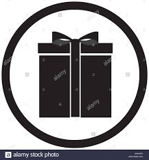 black white gift box vector christmas and birthday gift present