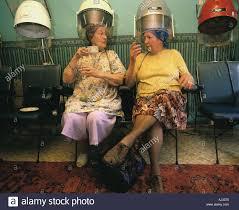 old ladies hair salon hairdresser salon retro stock photos hairdresser salon retro
