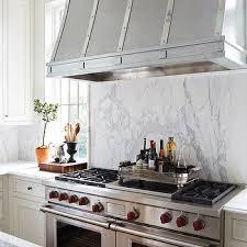 Kitchen Stove Backsplash Marble Slab Stove Backsplash Design Ideas