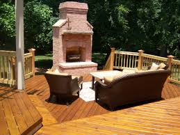 outdoor decks with round fences and fireplaces creative latino