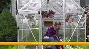 Palram Polycarbonate Greenhouse Palram Snap U0026 Grow 6 U0027 Greenhouse Youtube