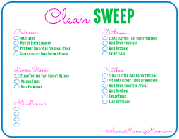 Household Items Checklist by Free Daily Cleaning Checklist Printable