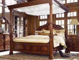 Wood Canopy Bed Frame Wood Canopy Bed Frame Us House And Home Real Estate Ideas